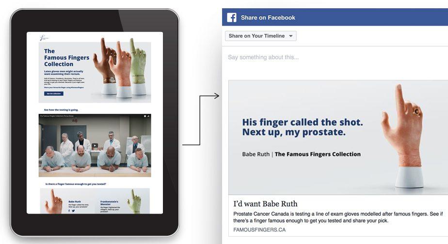 Famous Fingers website